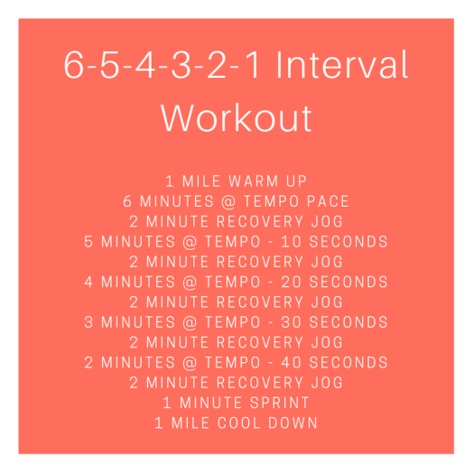 6-5-4-3-2-1 Interval Workout
